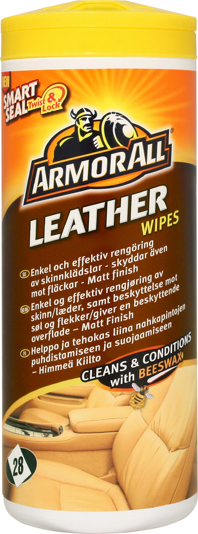 Skinnrengöring Leather Wipes 28-p