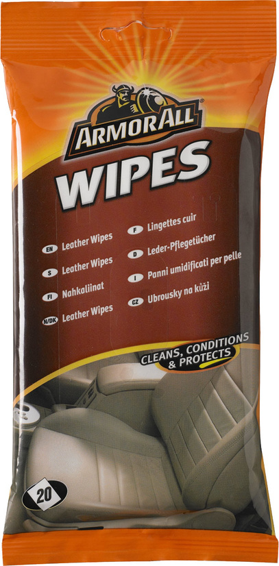 Skinnrengöring Leather Wipes 20-p