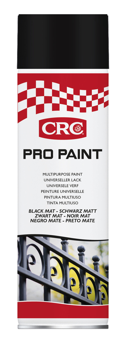 Sprayfärg Pro Paint svart matt 500 ml