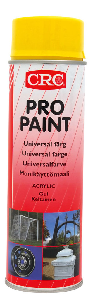 Sprayfärg Pro Paint gul 500 ml