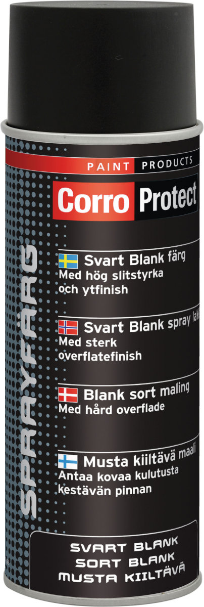 Sprayfärg svart blank 400 ml