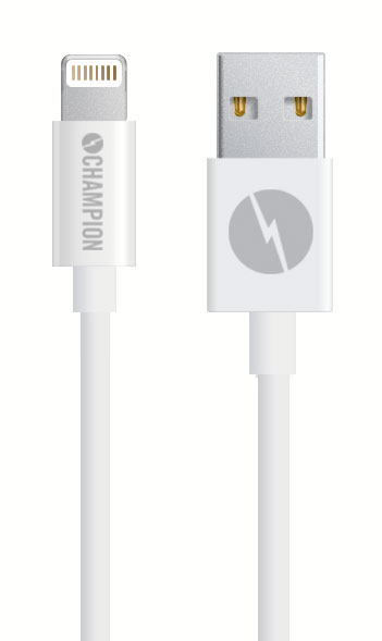 Kabel USB-Lightning iPhone 5-XS mfl vit 1 m