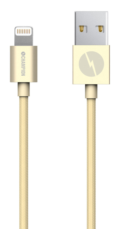 Kabel USB-Lightning iPhone 5-XS mfl guld 1 m