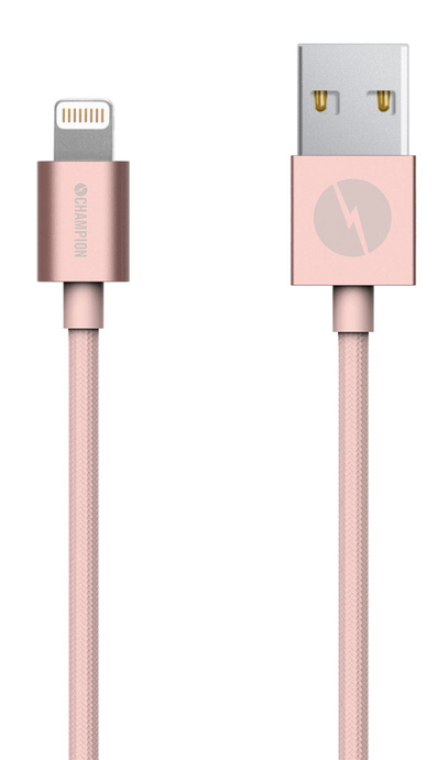 Kabel USB-Lightning iPhone 5-XS mfl rosa 1 m