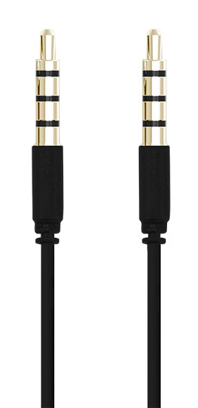 Kabel AUX Audio 3,5 mm svart 1 m
