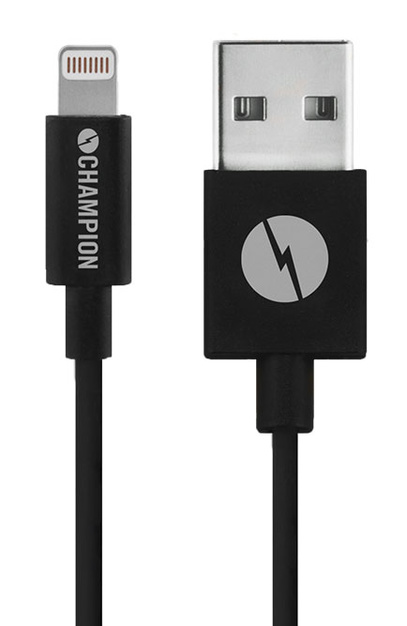 Kabel USB-Lightning iPhone 5-XS mfl svart 1 m
