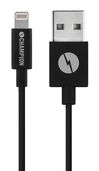 Kabel USB-Lightning iPhone 5-XS mfl svart 2 m