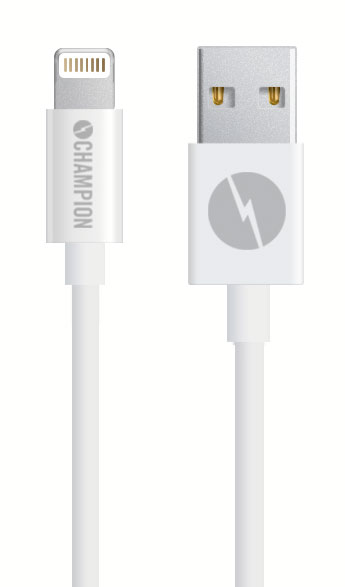 Kabel USB-Lightning iPhone 5-XS mfl vit 2 m
