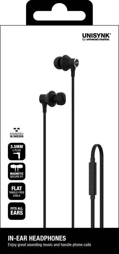 Headphones In-ear Svart