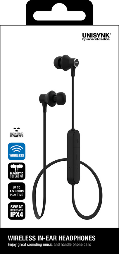 Headphones Bluetooth In-ear Svart
