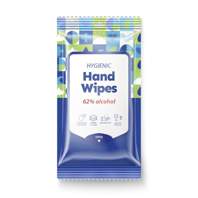 Wipes hand 62% alkohol 20 st